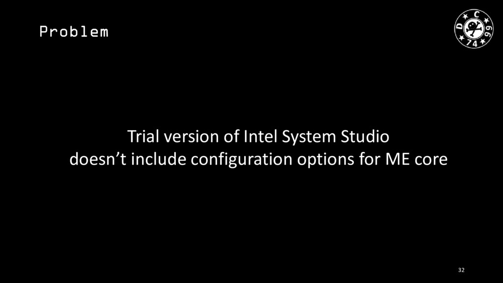 Problem Trial version of Intel System Studio do...
