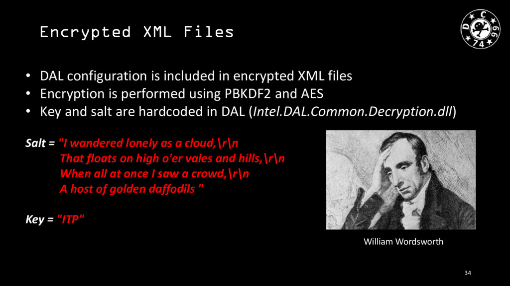 Encrypted XML Files • DAL configuration is incl...