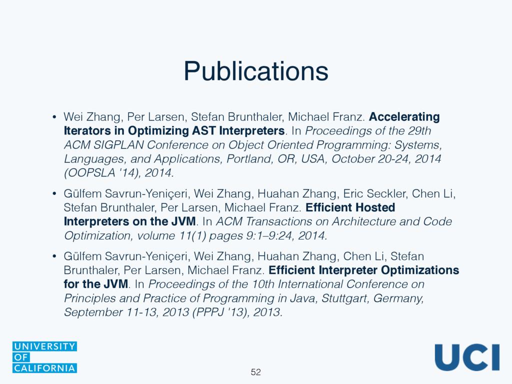 Publications • Wei Zhang, Per Larsen, Stefan Br...