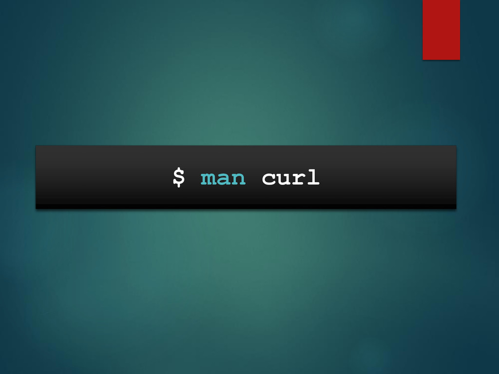 $ man curl