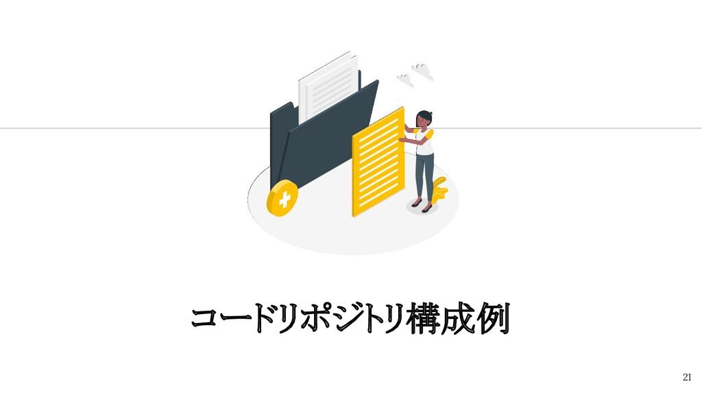 コードリポジトリ構成例 21