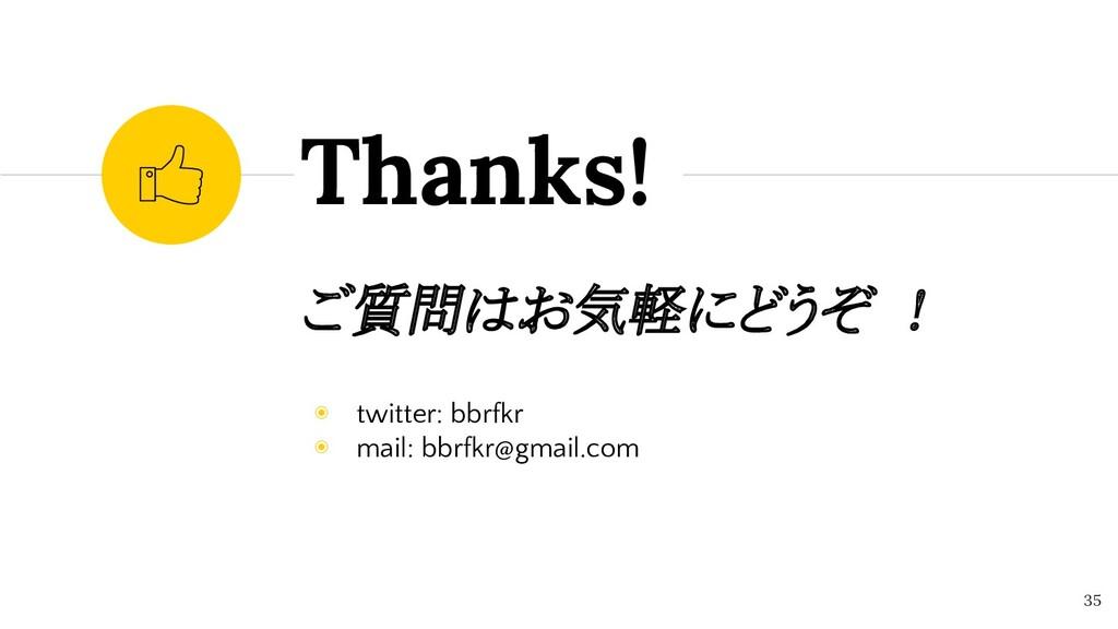 ご質問はお気軽にどうぞ ! ◉ twitter: bbrfkr ◉ mail: bbrfkr@...