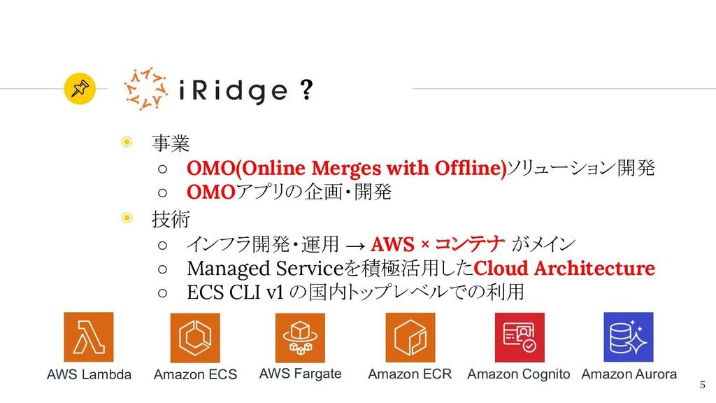 ? ◉ 事業 ○ OMO(Online Merges with Offline)ソリューション開...