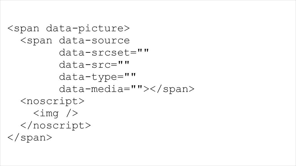 <span data-picture> <span data-source data-srcs...