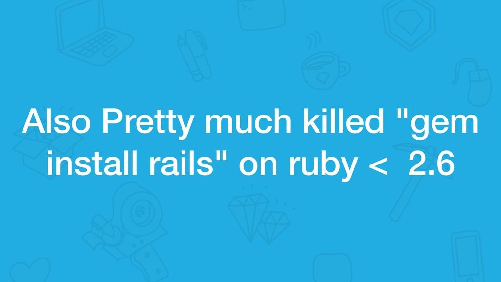 "Also Pretty much killed ""gem install rails"" on ..."