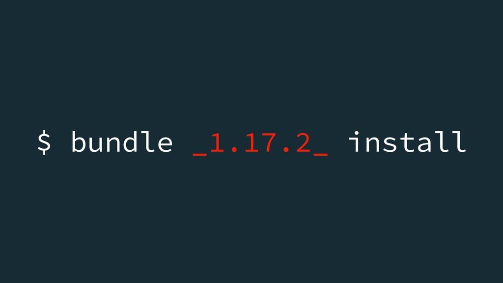$ bundle _1.17.2_ install