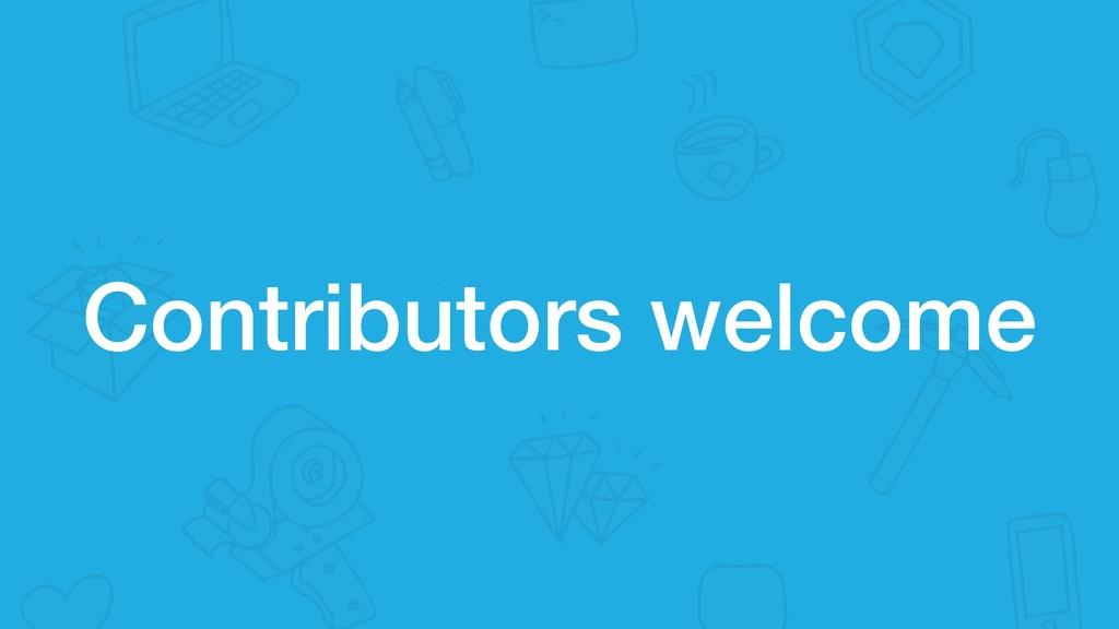 Contributors welcome