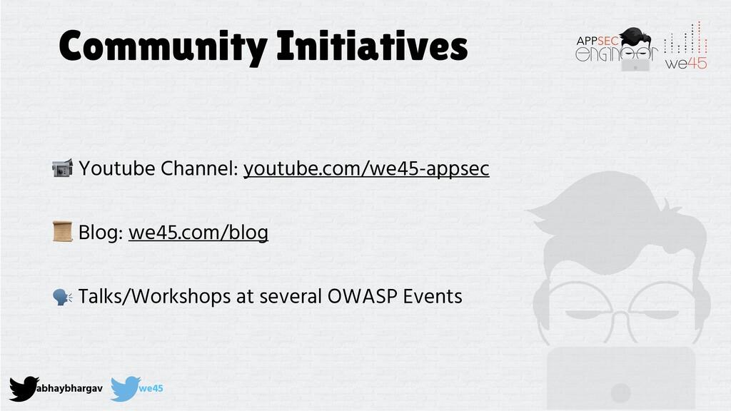 abhaybhargav we45 Community Initiatives  Youtub...