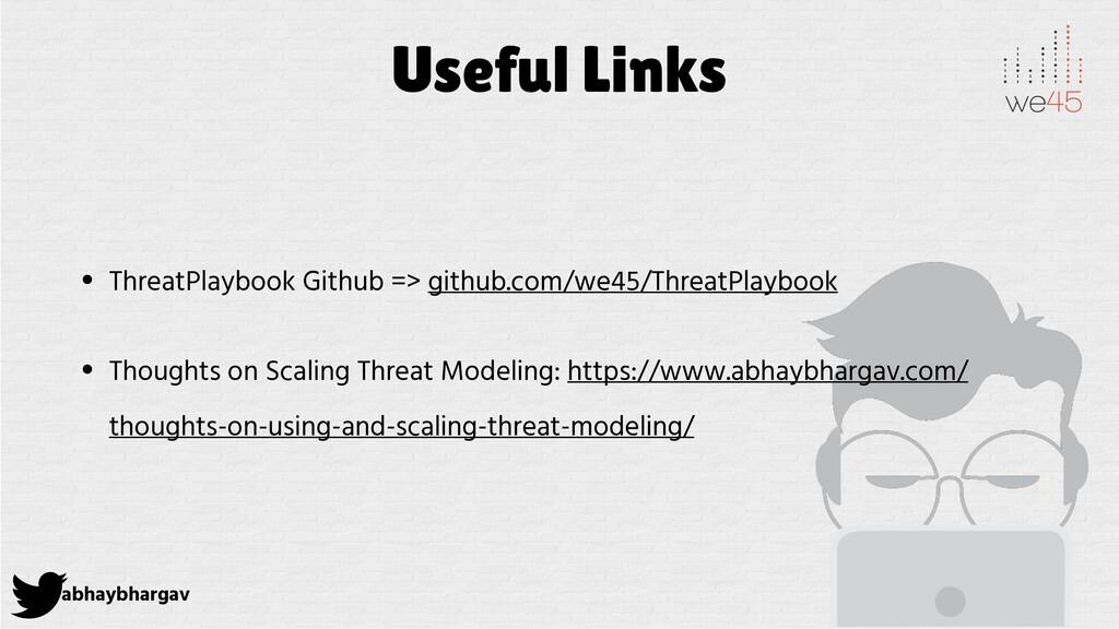 abhaybhargav Useful Links • ThreatPlaybook Gith...