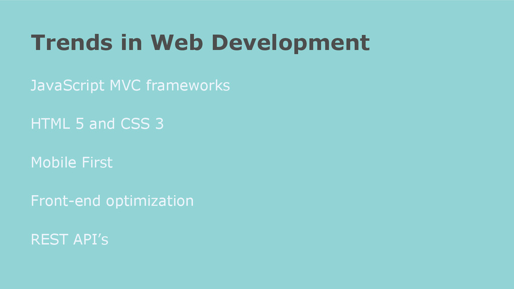 JavaScript MVC frameworks HTML 5 and CSS 3 Mobi...