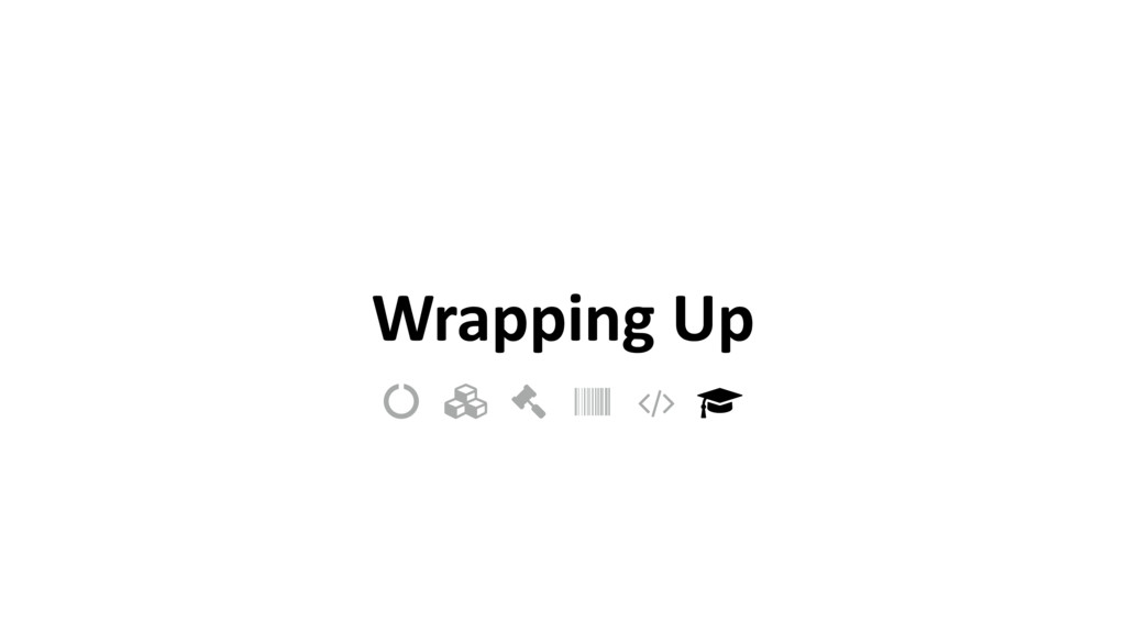"""Wrapping Up ! """" # $ % &"""