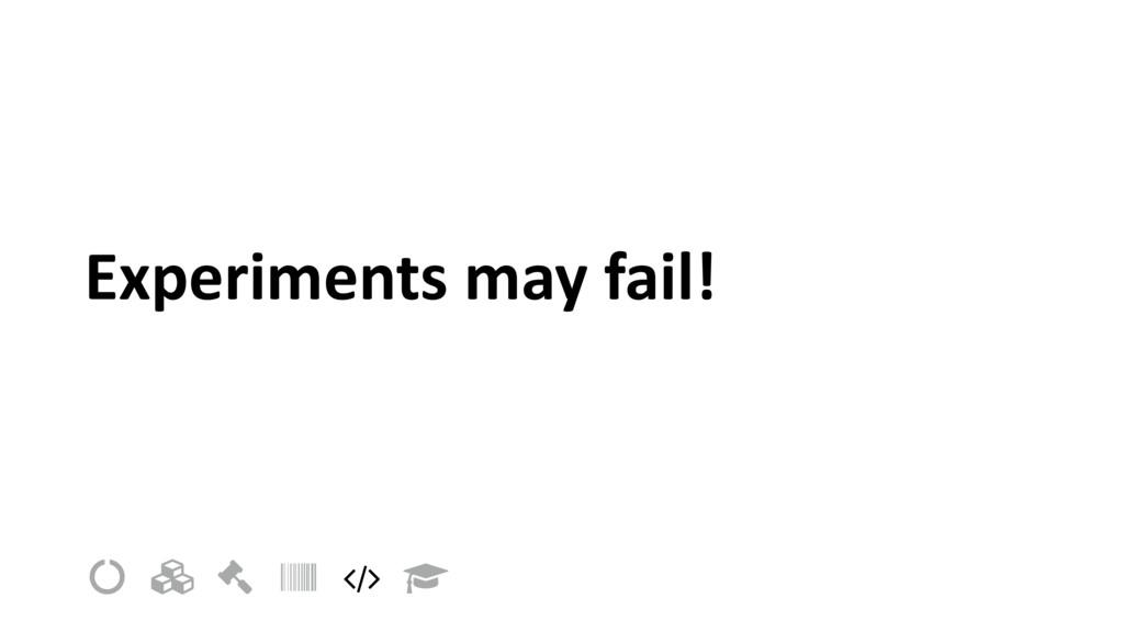 "Experiments may fail! ! "" # $ % &"