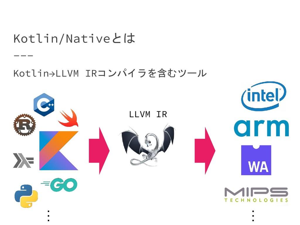 Kotlin/Nativeとは Kotlin→LLVM IRコンパイラを含むツール LLVM ...