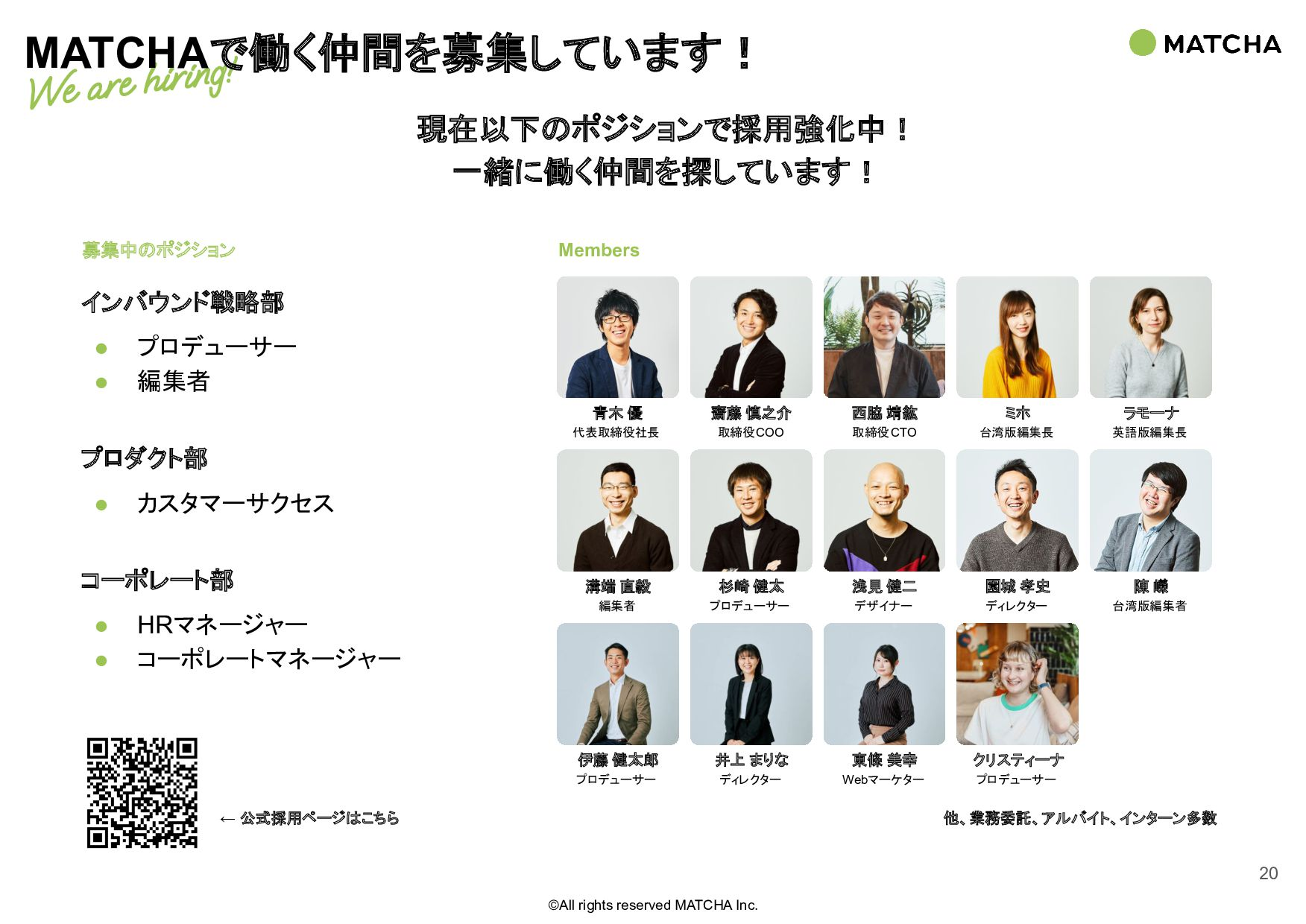 ©All rights reserved MATCHA Inc. CLIENTS お取引実績:...