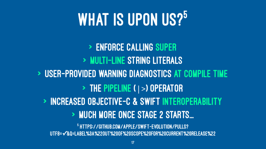 WHAT IS UPON US?5 > Enforce calling super > Mul...