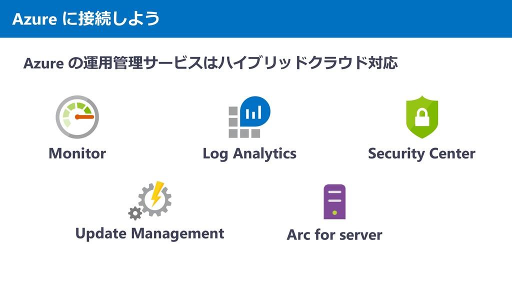 Azure に接続しよう Azure の運用管理サービスはハイブリッドクラウド対応 Monit...