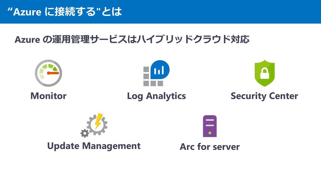 """""""Azure に接続する""""とは Azure の運用管理サービスはハイブリッドクラウド対応 Mo..."""