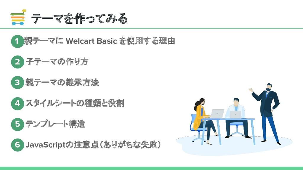 テーマを作ってみる 1 親テーマに Welcart Basic を使用する理由 2 子テーマの...