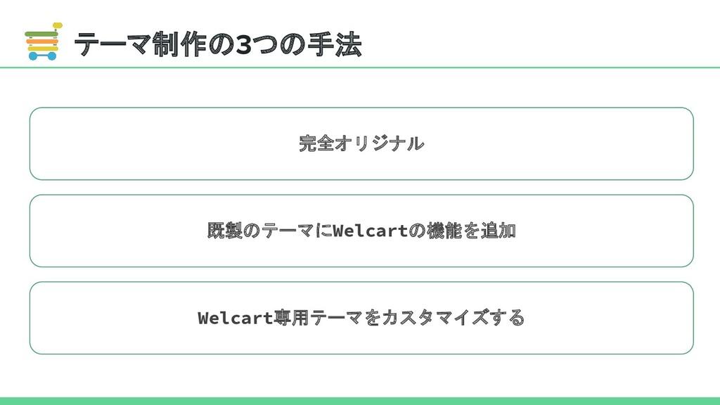 テーマ制作の3つの手法 完全オリジナル 既製のテーマにWelcartの機能を追加 Welcar...