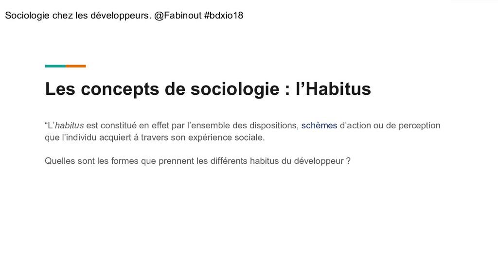 "Les concepts de sociologie : l'Habitus ""L'habit..."