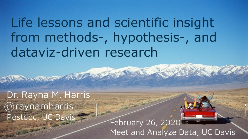 Life lessons and scientific insight from method...