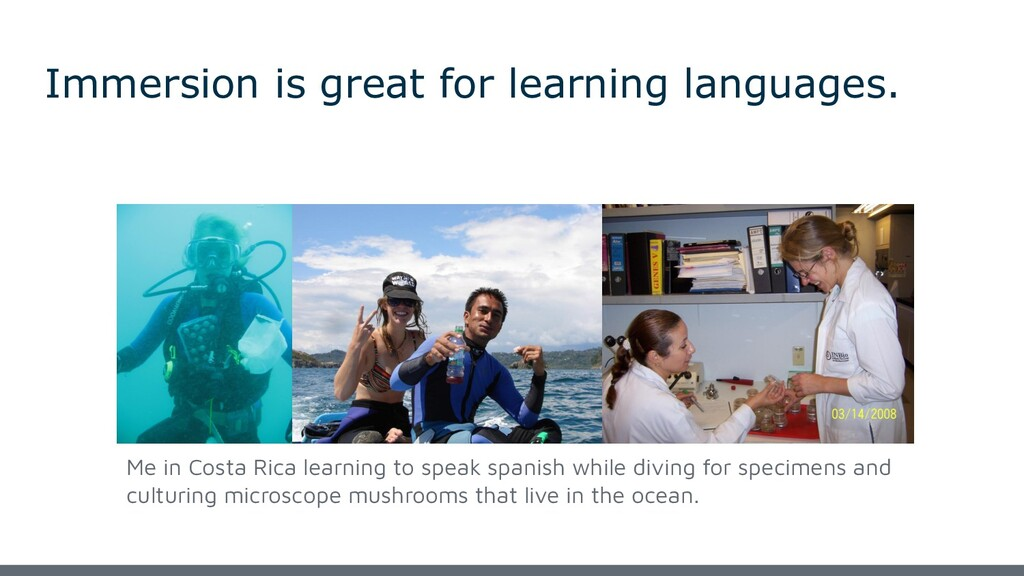 Immersion is great for learning languages. Me i...