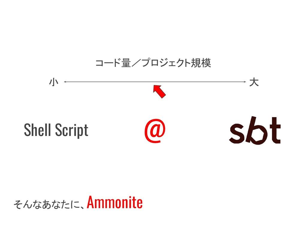 そんなあなたに、 Ammonite 大 小 @ コード量/プロジェクト規模 Shell Scr...