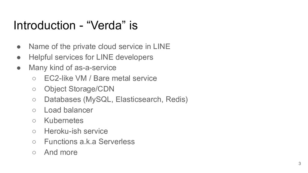 """Introduction - """"Verda"""" is 3 ● Name of the priva..."""