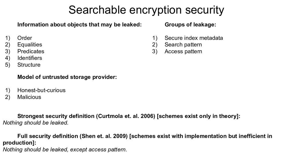 Model of untrusted storage provider: 1) Honest-...