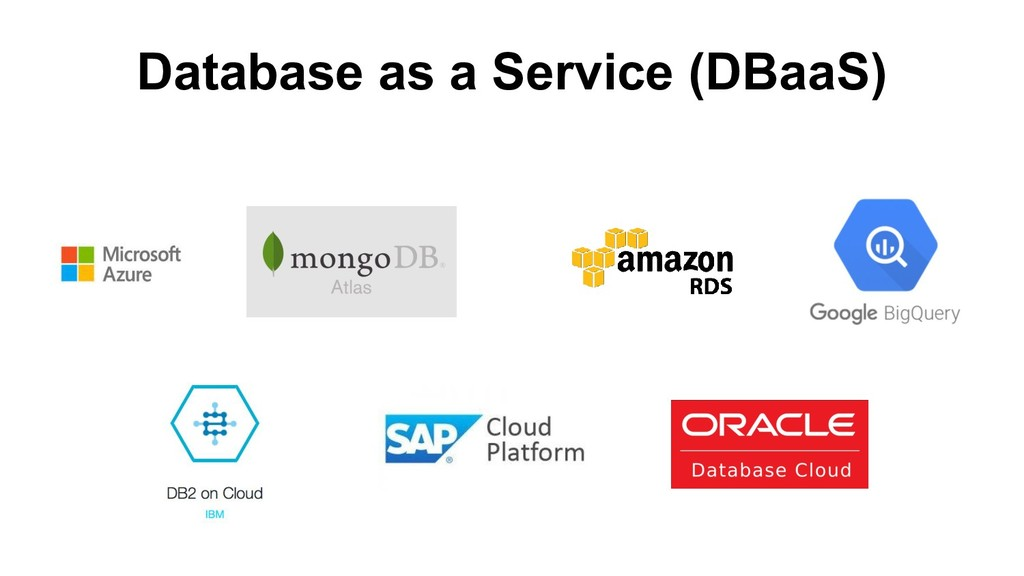 Database as a Service (DBaaS)