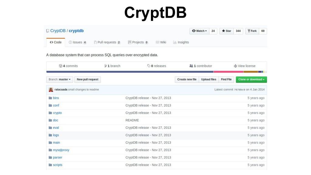 CryptDB