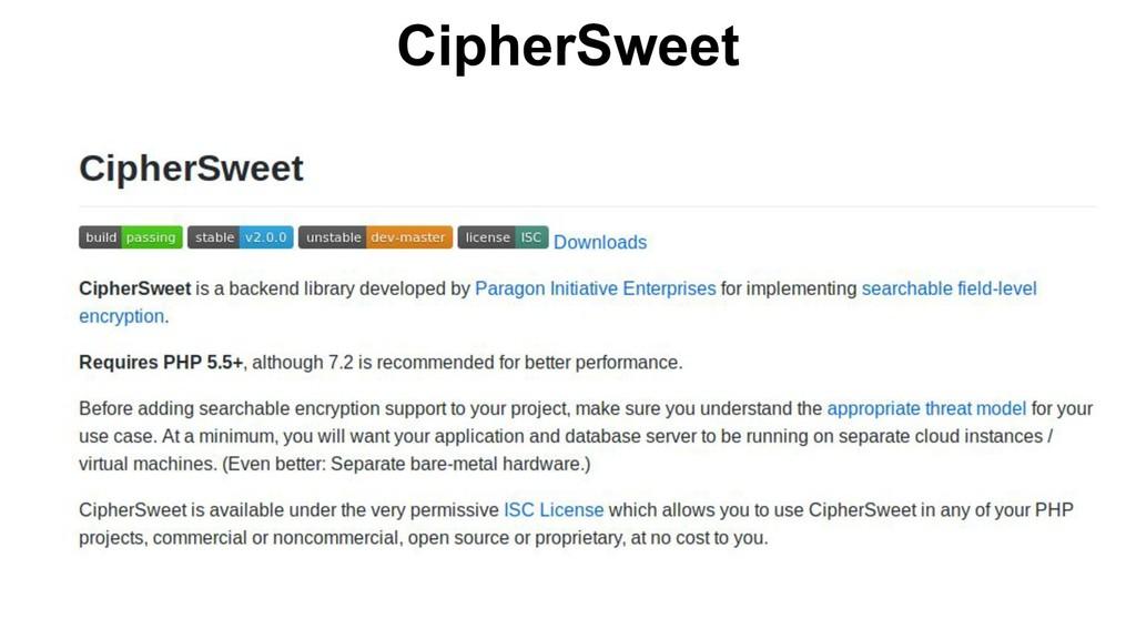 CipherSweet