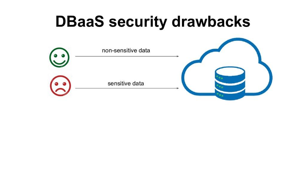 DBaaS security drawbacks non-sensitive data sen...