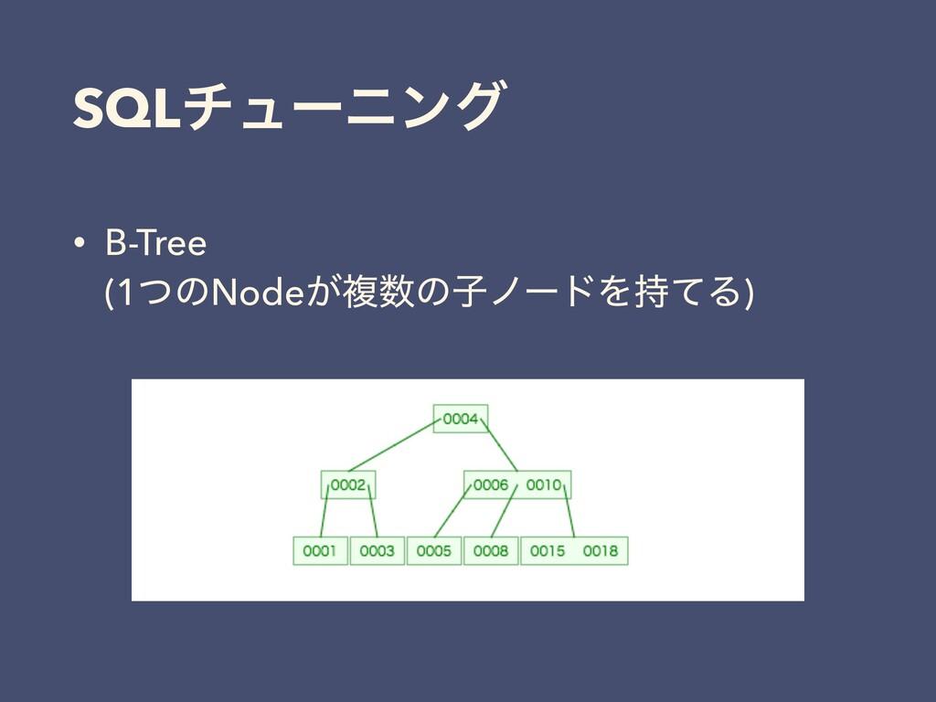 • B-Tree (1ͭͷNode͕ෳͷࢠϊʔυΛͯΔ) SQLνϡʔχϯά