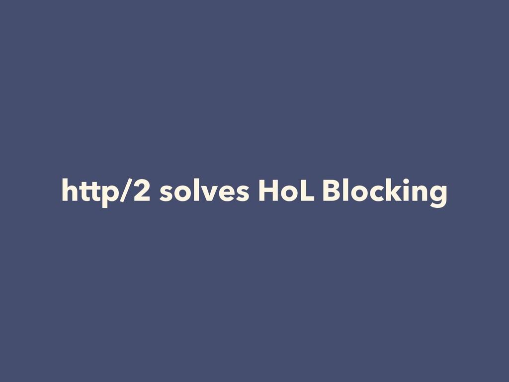 http/2 solves HoL Blocking