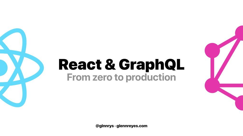 @glnnrys · glennreyes.com React & GraphQL From ...