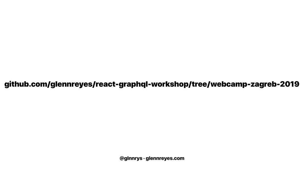 @glnnrys · glennreyes.com github.com/glennreyes...