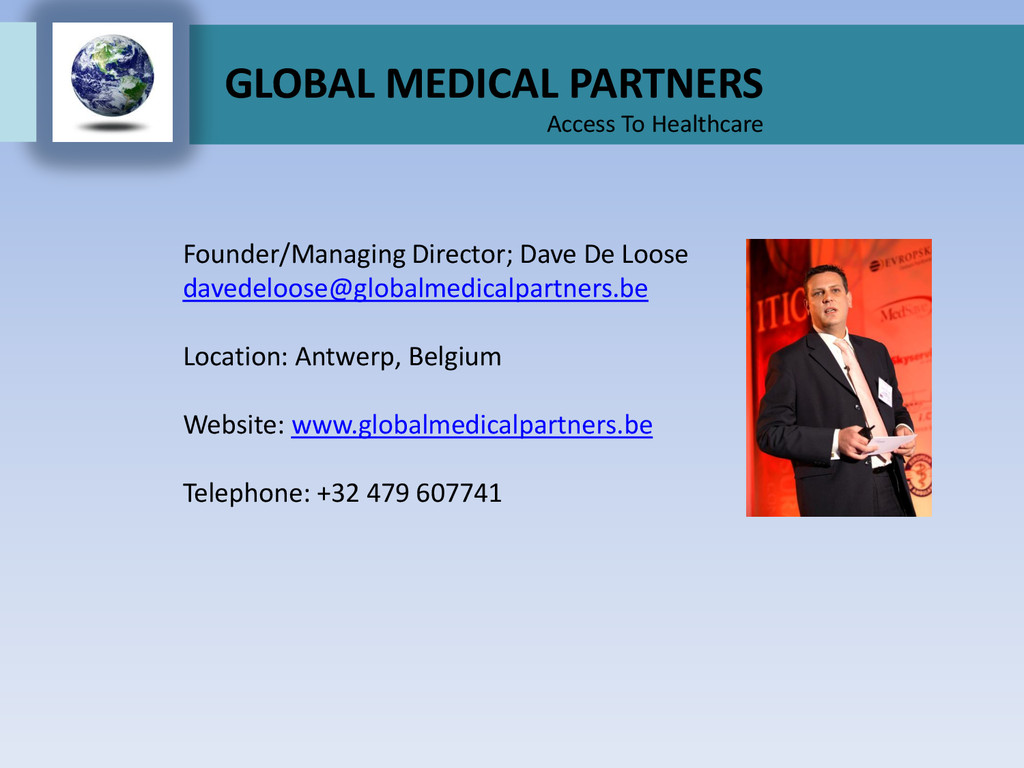 GLOBAL MEDICAL PARTNERS Access To Healthcare Fo...