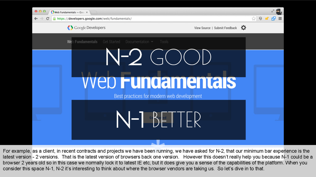 N-2 GOOD N-1 BETTER For example, as a client, i...