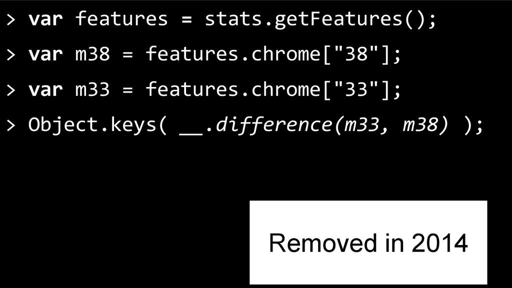 > var features = stats.getFeatures(); > var m38...