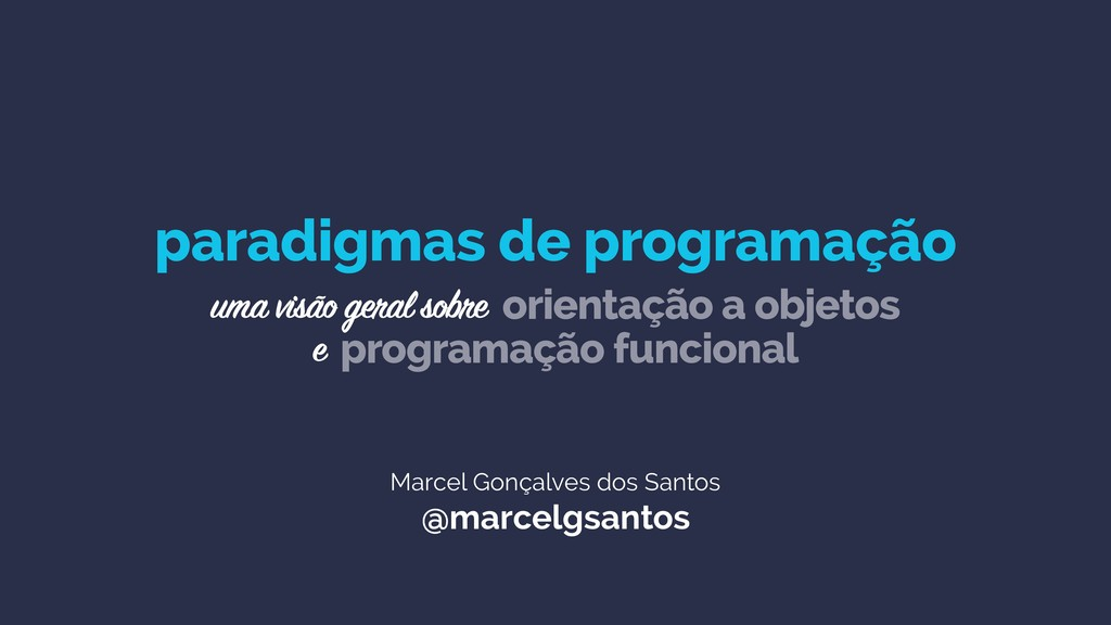 Marcel Gonçalves dos Santos @marcelgsantos para...