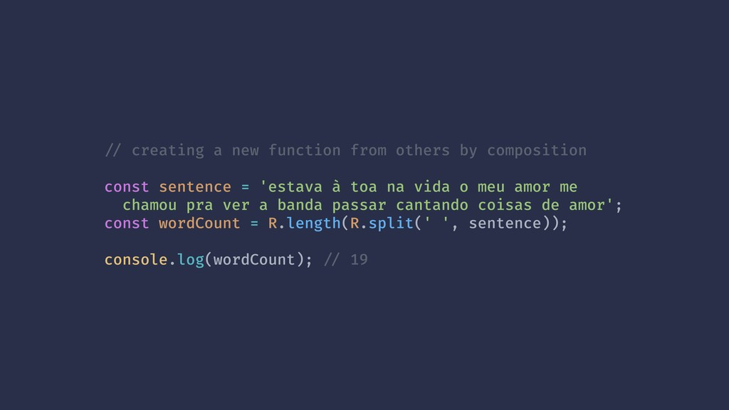 !// creating a new function from others by comp...