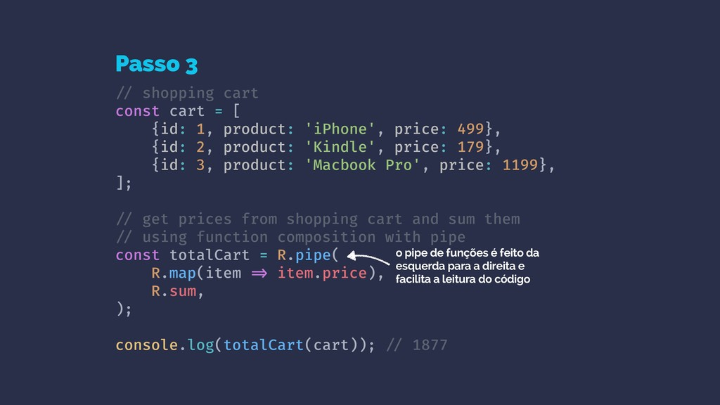 !// shopping cart const cart = [ {id: 1, produc...
