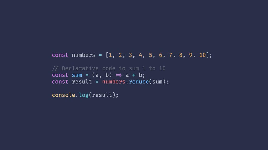 const numbers = [1, 2, 3, 4, 5, 6, 7, 8, 9, 10]...