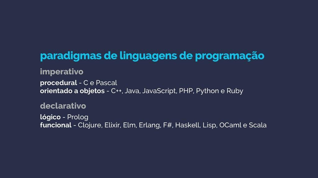 paradigmas de linguagens de programação  impe...