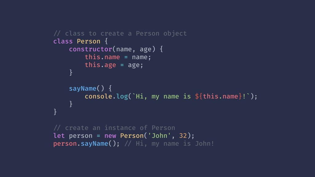 !// class to create a Person object class Perso...