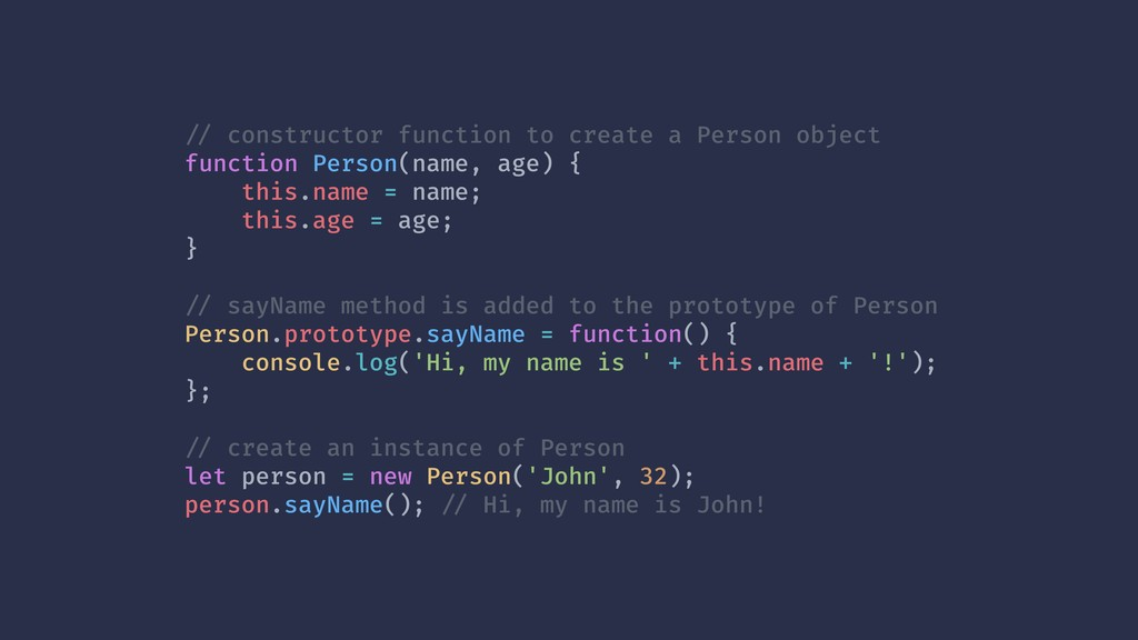 !// constructor function to create a Person obj...