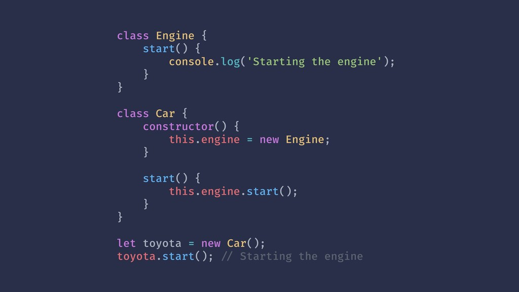 class Engine { start() { console.log('Starting ...