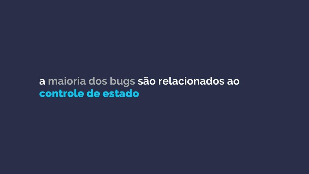 a maioria dos bugs são relacionados ao controle...