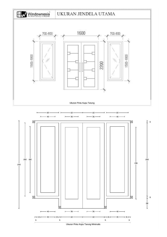 Ukuran Pintu Minimalis Ukuran pintu kupu tarung minimalis